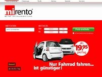 Mirento Autovermietung website screenshot