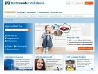 Volksbank Hamm website screenshot