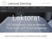 Lektorat Demling website screenshot
