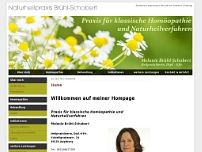 Melanie Brühl-Schobert website screenshot