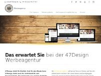 47Design Werbeagentur website screenshot