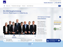 AXA Versicherungen Poelmeyer & Kollegen Oldenburg website screenshot