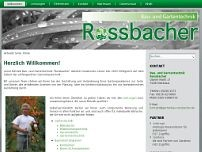 Hans-Georg Roßbacher website screenshot