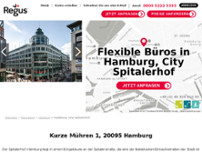 Regus - Hamburg City Spitalerhof website screenshot