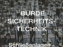 Burde Sicherheitstechnik website screenshot