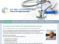 Dr. med. Peter Mühling website screenshot