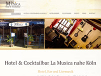 Hotel Cocktailbar La Musica website screenshot