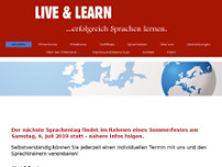 Live and Learn website screenshot