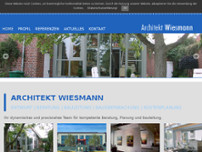 Architekt Wiesman | Dipl.-Ing. Architekt Peter Wiesmann website screenshot