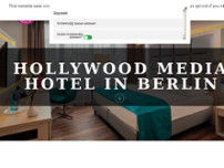 Hollywood Media Hotel website screenshot