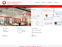 Vodafone Shop website screenshot