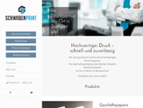 Schwabenprint Copyshop Stuttgart website screenshot