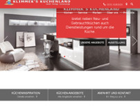 Klimmek's Küchenland website screenshot