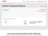 Amplifon Hörgeräte (Focus Hören) website screenshot