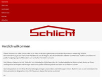 Schlicht Bauunternehmung website screenshot