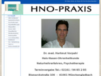 HNO Dr. Hartmut Vorpahl website screenshot