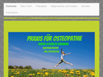 Praxis für Osteopathie Maria Baumann website screenshot