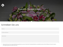 Blumen & Floristik website screenshot
