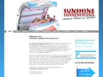 Sunshine Sonnenstudio website screenshot