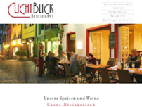 Restaurant Lichtblick Freiburg website screenshot