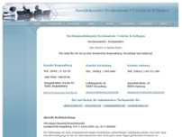Rechtsanwalt website screenshot