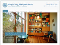 Margit Serg Heilpraktikerin website screenshot