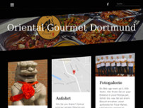 Oriental Gourmet Restaurant website screenshot