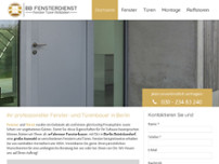 BB Fensterdienst UG website screenshot