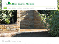 Haus Garten Montage website screenshot