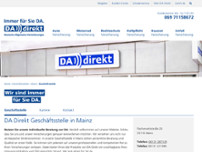 DA Direkt Versicherung Mainz website screenshot