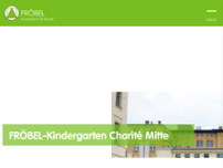 FRÖBEL-Kindergarten Charité Mitte website screenshot