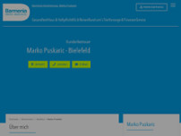 Barmenia Versicherung - Marko Puskaric website screenshot