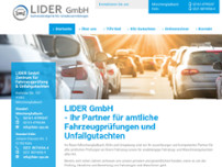 LIDER GmbH website screenshot