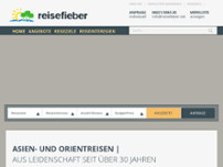 reisefieber reisen gmbh website screenshot