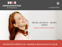 Kieferorthopädie Dr. Brockhaus website screenshot