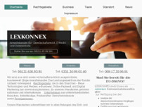 LEXKONNEX Anwaltskanzlei website screenshot