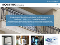 BOGETEC Metallbau GmbH website screenshot