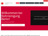 Rohrreinigung Berlin website screenshot