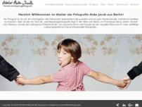 Atelier Anke Jacob I Portrait- und Reportagefotografie website screenshot