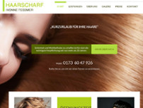 Salon Haarscharf Ivonne Tessmer website screenshot