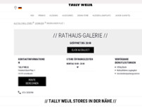 TALLY WEiJL website screenshot