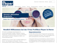 Pieper Profilbau website screenshot