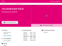 Telekom Shop website screenshot