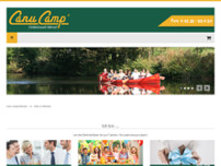 Canu Camp Erlebniswelt Werse website screenshot