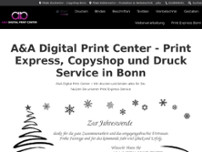 A&A Digital Print Center & Druckerei Bonn website screenshot