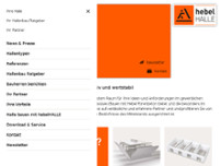 hebelHALLE - Xella Aircrete Systems GmbH website screenshot