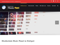 Musikschule Music Planet website screenshot