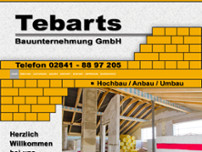 Tebarts Bauunternehmung GmbH website screenshot