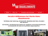 Bauelemente Martin Maier website screenshot