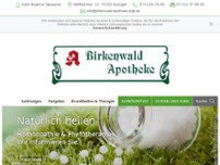Birkenwald-Apotheke website screenshot